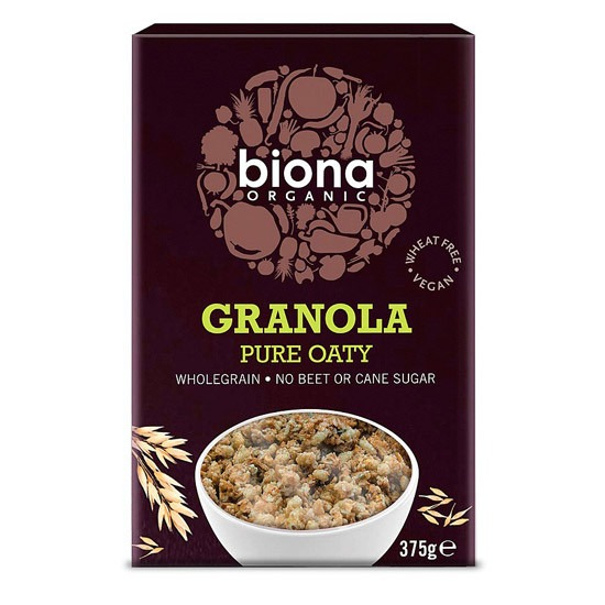 - biona granola pure oaty - Έξι λόγοι για να ακολουθήσετε μια «πράσινη» διατροφή
