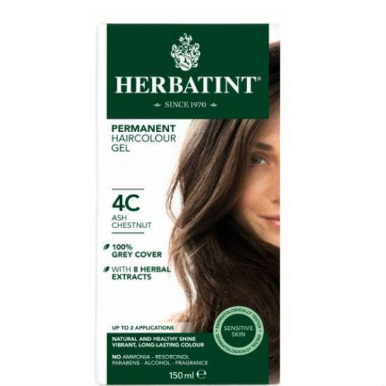 - herbatint 4c - Herbatint Φυτική Βαφή Μαλλιών 4C Καστανό Σταχτί 150ml