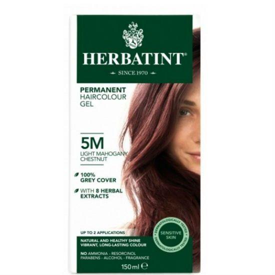 - herbatint 5   - Herbatint Φυτική Βαφή Μαλλιών 5Μ Καστανό Ανοιχτό Μαονί