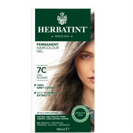 - herbatint 7c - Herbatint Φυτική Βαφή Μαλλιών 7C Ξανθό Σταχτί