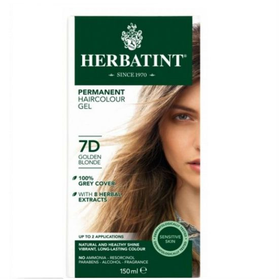 - herbatint 7d - Herbatint Φυτική Βαφή Μαλλιών 7D Ξανθό Χρυσαφί 150ml