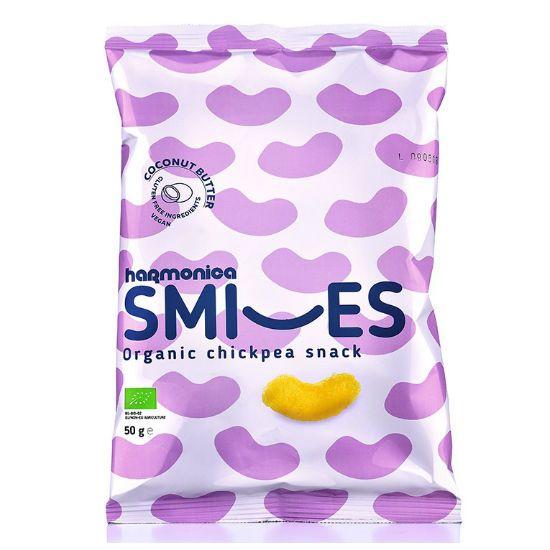 - smiles coco - Harmonica Smiles Σνακ από Ρεβύθι με Λάδι Καρύδας 50gr