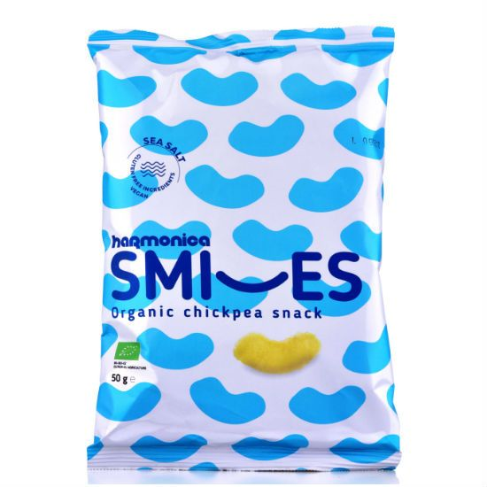 - snack sea salt e1511542049863 - Harmonica Smiles Σνακ από Ρεβύθι με Θαλασσινό Αλάτι 50gr