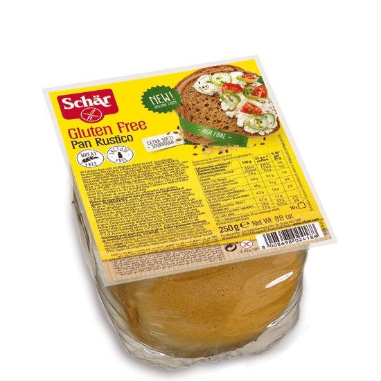 Dr Schar Πολύσπορο Ψωμί σε Φέτες 'Pan Rustico' Χωρίς Γλουτένη 250gr
