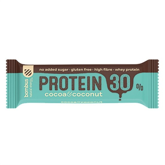 Bombus Μπάρα Πρωτεΐνης Raw με Επικάλυψη Σοκολάτας,Καρύδα & Κακάο 50gr